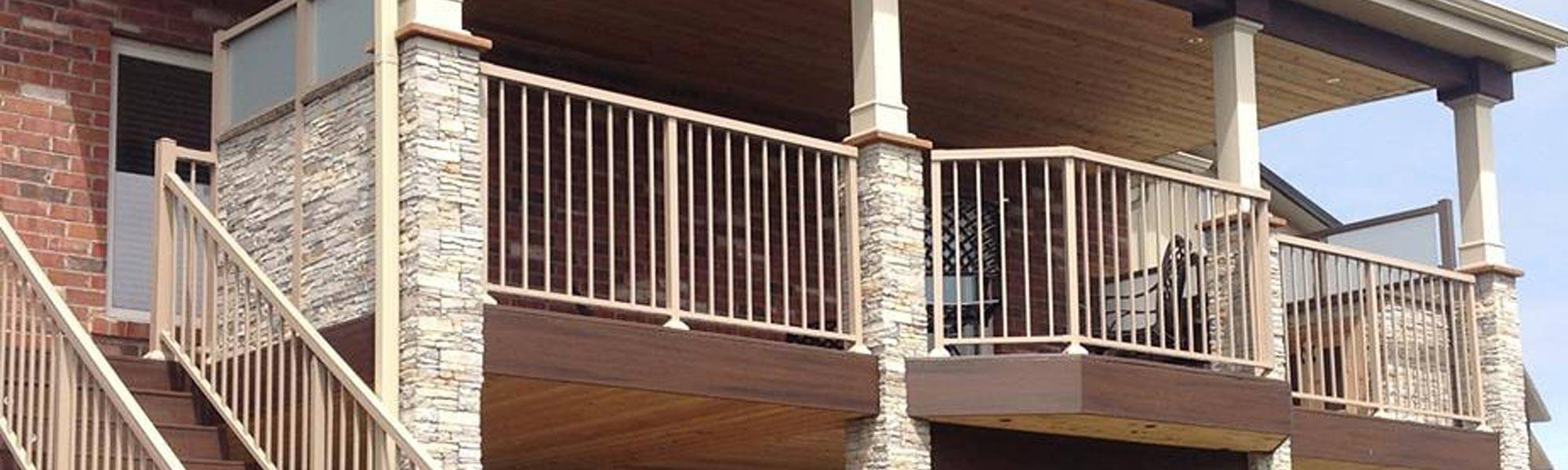 custom wood deck building ontario